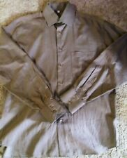 BARBERINI Gray 100% Cotton Button Down Shirt SZ 42/16.5 Made in Italy