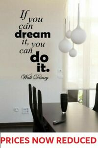 HOT Disney Quotes Wall Art Stickers Decals If you can Dream it - Do it Quote