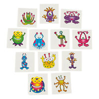 Alien Monster Kids Temporary Tattoos Space Party Favours Tattoo Pk 36 Free Post