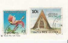 Papua New Guinea, Postage Stamp, #603, 602 Used, 1984 Bird