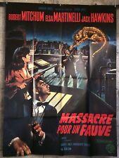 cinema-affiche originale- MASSACRE POUR UN FAUVE -120x160-Robert Mitchum