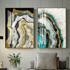 Modern Golden Marble Abstract Painting Canvas Poster Art Print Home Wall Decor