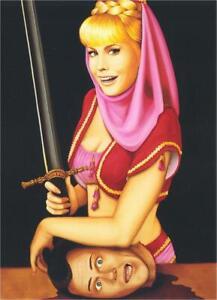 I Dream of Jeannie Decapitation by Isabel Samaras Art Large Postcard