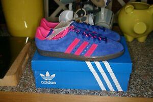 BNIB Rare Adidas Padiham Trainers Royal Blue & Shocking Pink UK Size 9