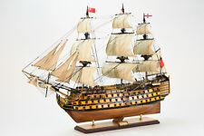 """HMS Victory Handcrafted Wooden Ship Model 44"""" Large Scale"""