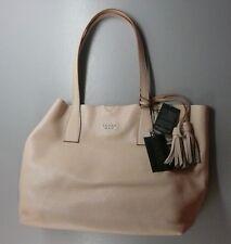 Nwt Tosca Blu Lite Tan Large Handbag Tote Genuine Soft Leather W Zipper Sm Bag