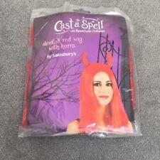 Halloween/Fancy Dress-Donna Parrucca diavolo con corna-NUOVO