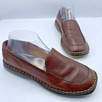 Born B8257 Women Brown Leather Slip On Comfort Shoe Size 9.5 Pre Owned