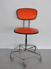 Bürostuhl Architektenstuhl Arbeitsstuhl 60er 70er Jahre Orange