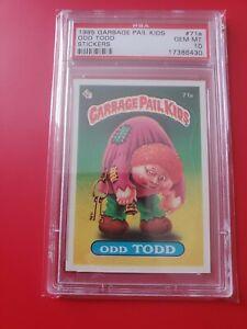 Garbage pail kids Series 2 1985 OS2 Odd Todd 71a matte gem mint PSA 10