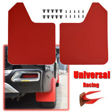 Racing Red Universal Mudguards Mud Flaps Splash Guards Mudflaps Fender Dirty