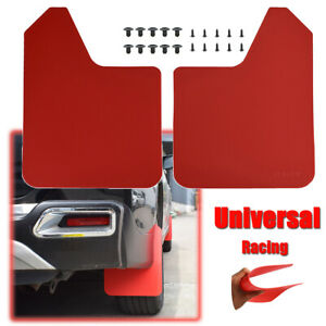 Racing Red Universal Mudguards Mud Flaps Splash Guards Mudflaps Fender Dirty