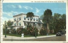 Cocoa FL House on Indian River c1920 Postcard