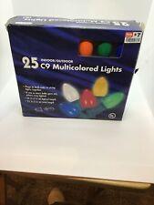 25 C9 Indoor/Outdoor MultiColored Christmas Lights 25 ft.