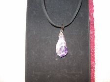 Amethyst tooth crystal healing stone necklace