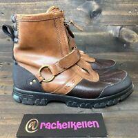 Polo Ralph Lauren Conquest HI Men's Size US 9.5 D Zip Up Leather Boots Brown