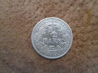 German  Empire ,Germany silver coin 1/2 mark,1906 VF