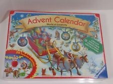 Ravensburger Advent Calendar create your own Christmas Ornaments sealed unopeneD
