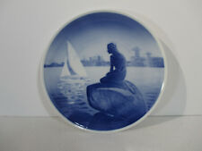 Royal Copenhagen Little Mermaid Plate Vintage 1977 Hans Christian Andersen Blue
