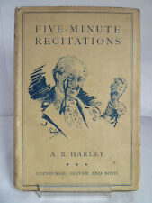 FIVE-MINUTE RECITATIONS, IN POEM & PROSE by AB HARLEY 1933