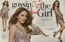 Leighton Meester 6pg INSTYLE magazine feature, clippings