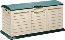 KISSENBOX RUND JUMBO XXL BEIGE/GRÜN AUFBEWAHRUNGSBOX GARTENBOX CA.141,5 x 61,5