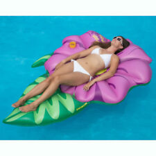 Swimline Inflatable Hibiscus Flower Floating Lounger Raft Mat for Swimming Pool