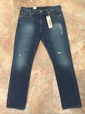 Levi's Levis Mens 511 Slim Rowdy Creek Light Destructed Denim Jeans Size 38 x 34