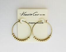Kenneth Cole Matte Gold Tone Hoop Earrings