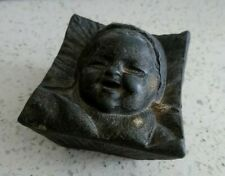 Rare & Unusual Antique French Baby / Child Spelter Jar, Pot, Box - Christening