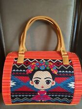 Frida Kahlo Bag Jute Handbag 100% Mexican Art