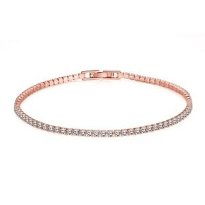 "Women's Bracelet Chain 18K Rose Gold Filled 8"" Link Fashion Jewelry"