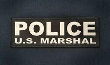 POLICE U.S. MARSHAL 3x8 Black White Tactical ID Raid Hook Patch US Marshals USMS