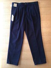 Eddie Bauer Men's Pleated Front Classic Fit Navy Khakis 38 x 32 Nos