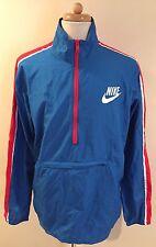 Rare NIKE Colorblock Windbreaker Pullover Nylon Blue Jacket Mens Sz XL