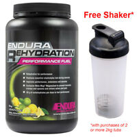 FREE SHAKER* ENDURA REHYDRATION PERFORMANCE FUEL 2KG LEMON LIME FLAVOUR