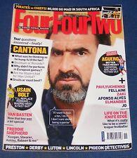 FOURFOURTWO MAGAZINE NOVEMBER 2008 - ERIC CANTONA/SERGIO AGUERO