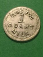 Vintage Token A.T.Roth Milk, Coin Good For 1 Quart Milk Vintage Coin T3