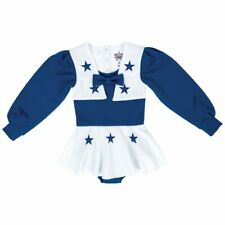 c181e44b8 Dallas Cowboys Girls Toddler White/royal Blue DCC Cheer Uniform 2t