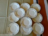 12 Vintage SYRACUSE CHINA CELESTE BREAD AND BUTTER PLATES   MID CENTURY MODERN