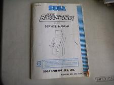 BASS FISHING STD TYPE     video game  arcade   game manual