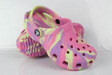 Crocs Kids Classic Marbled Tie Dye Clogs Size 12 Pink Lemonade
