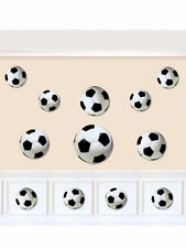 12 x Football Soccer Goal Birthday Party Assorted Cut Out Decorations Decs