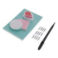 6 Stücke DIY Stempel Carving Blocks Kit mit Carving Cutter Klinge