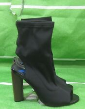 """new ladies black 4.5""""High Block Heel ankle strap Open Toe Sexy Shoes Size  7"""