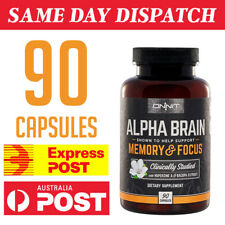 Onnit Alpha Brain The Flagship Memory and Focus Capsules - 90 Count