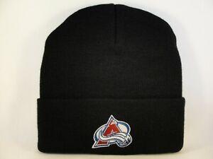 Colorado Avalanche NHL Vintage Cuffed Knit Hat Black