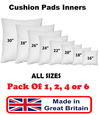 """Cushion Pad Inner Insert Filler 16"""" 18"""" 20"""" 22"""" 24"""" 26"""" Fillers Pads Scatters"""