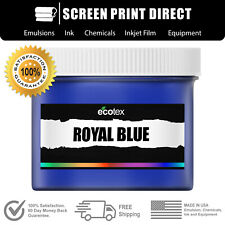 Ecotex Royal Blue Premium Plastisol Ink For Screen Printing 1 Pint 16oz