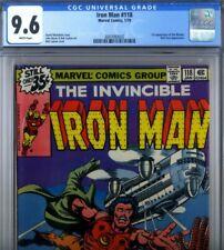 PRIMO:  IRON MAN #118 NM+ 9.6 CGC 1st Jim Rhodes Nick Fury BYRNE Marvel comics